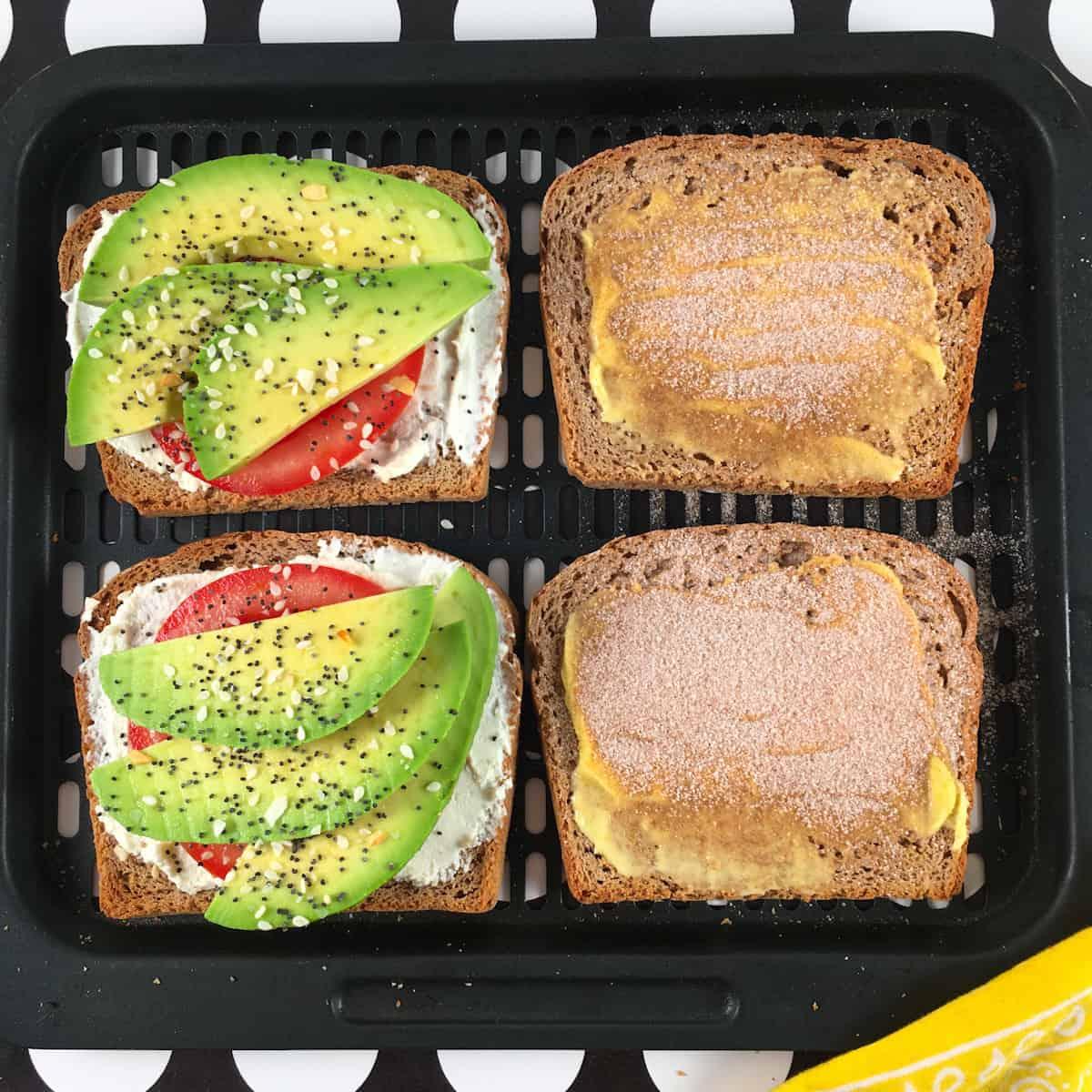 avocado toast air fryer