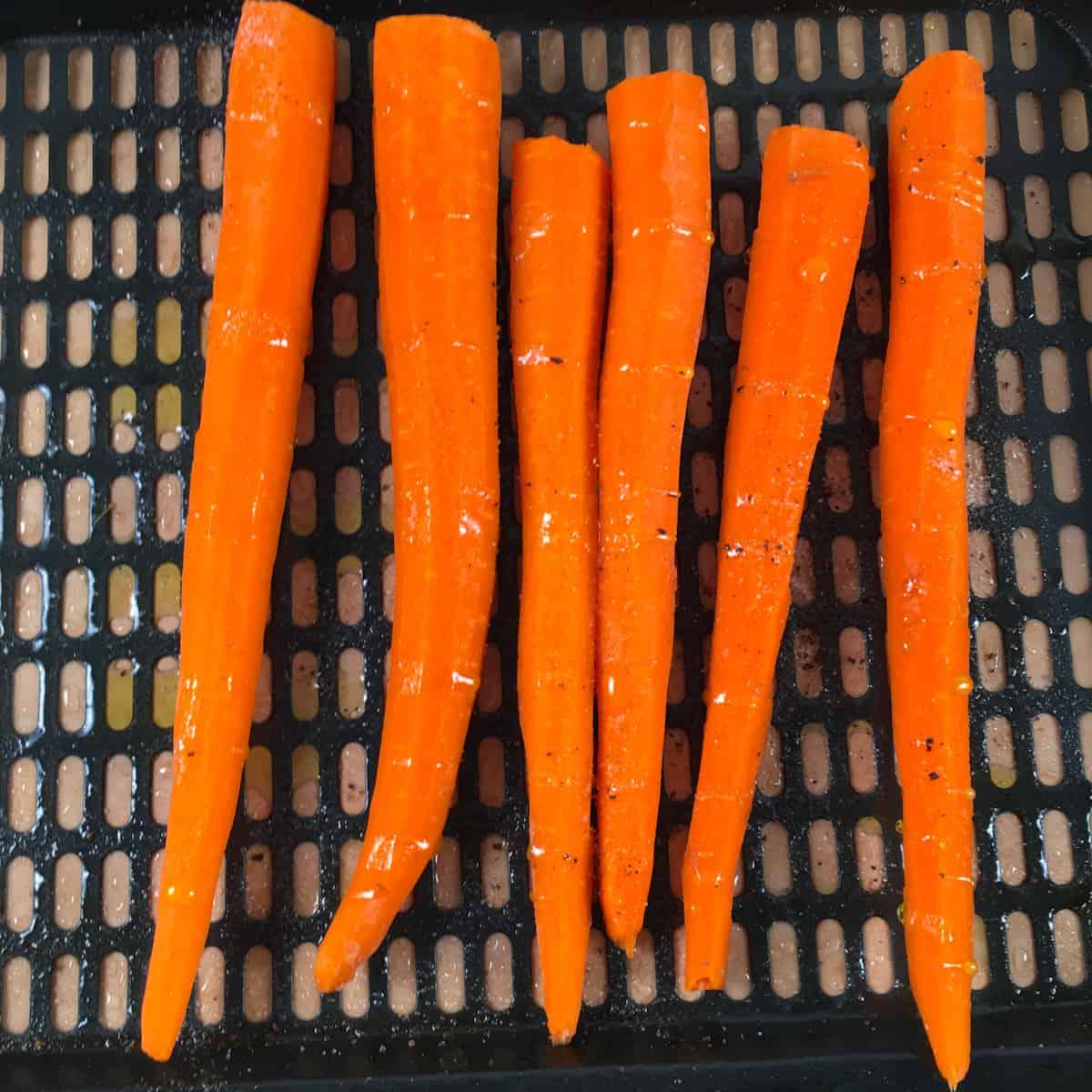 carrots in air fryer