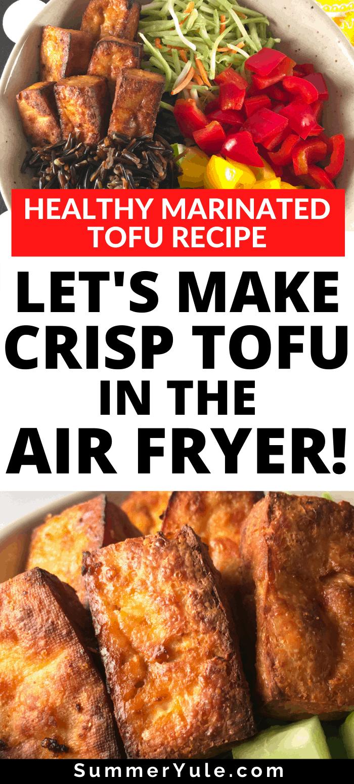 crispy tofu air fryer