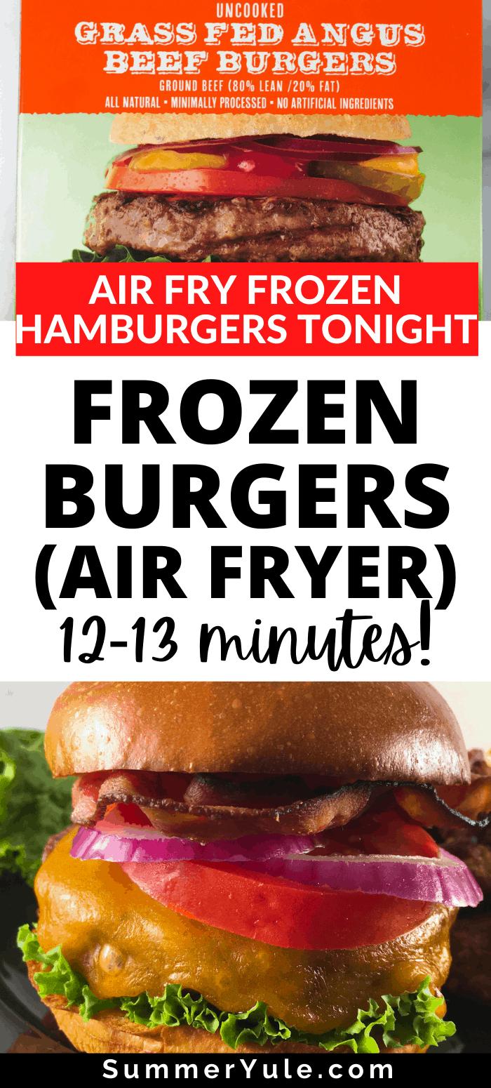 frozen burgers airfryer