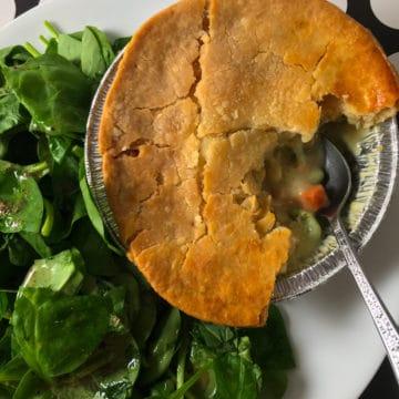 frozen chicken pot pie in air fryer