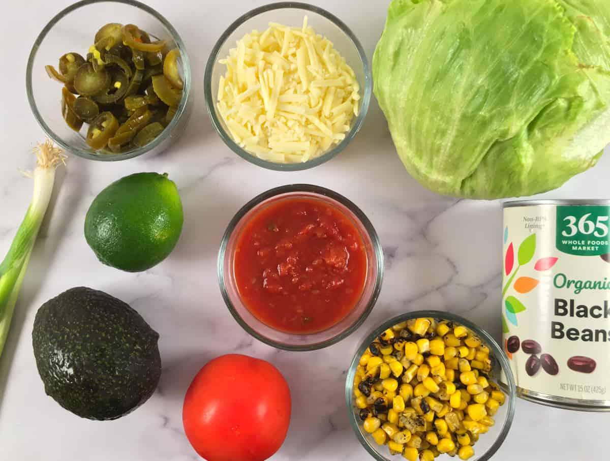 ground beef taco bowls ingredients