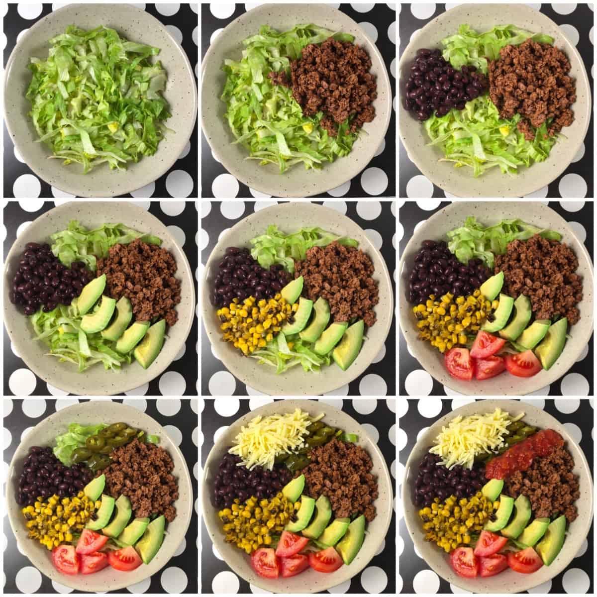 ground beef taco bowls