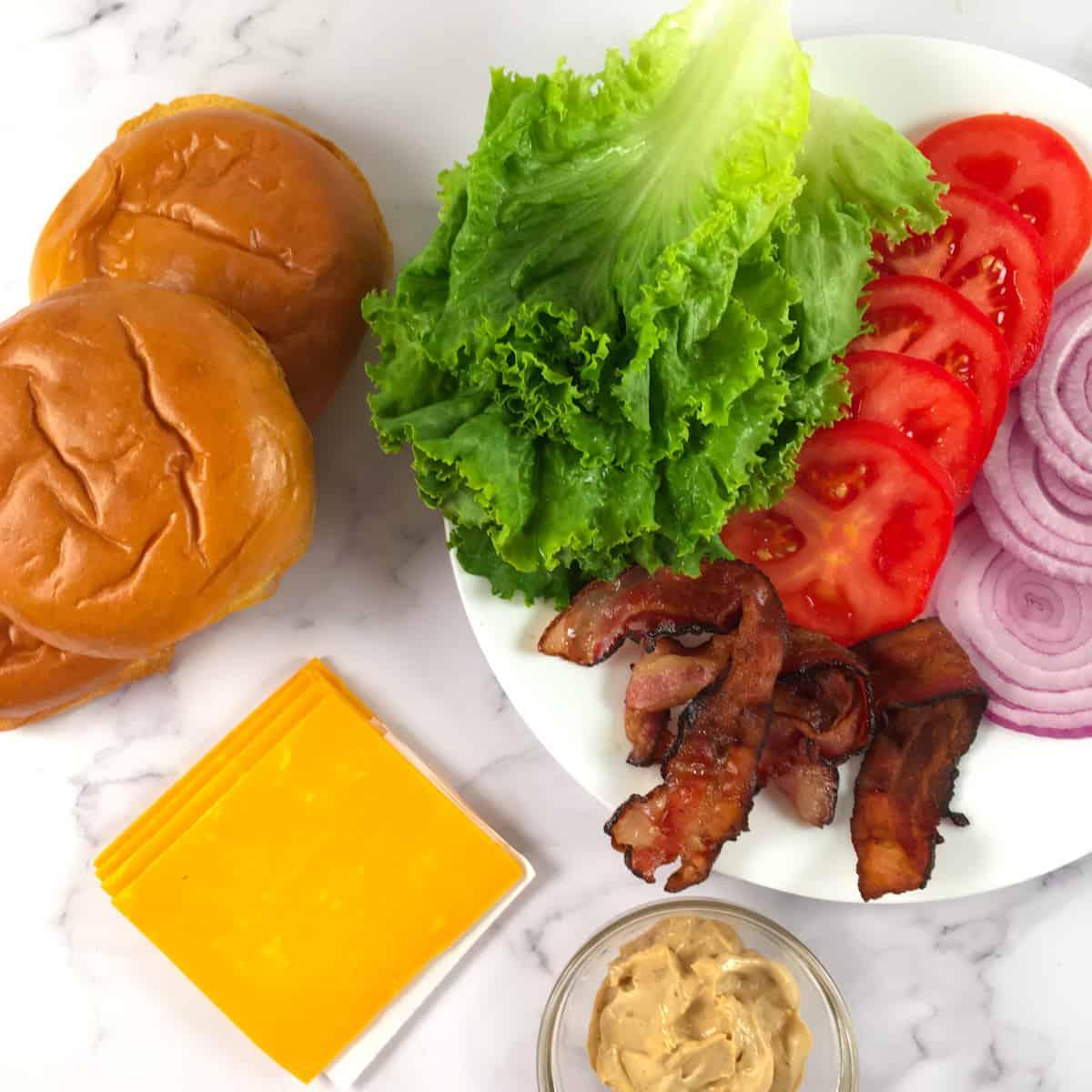 hamburger toppings ingredients