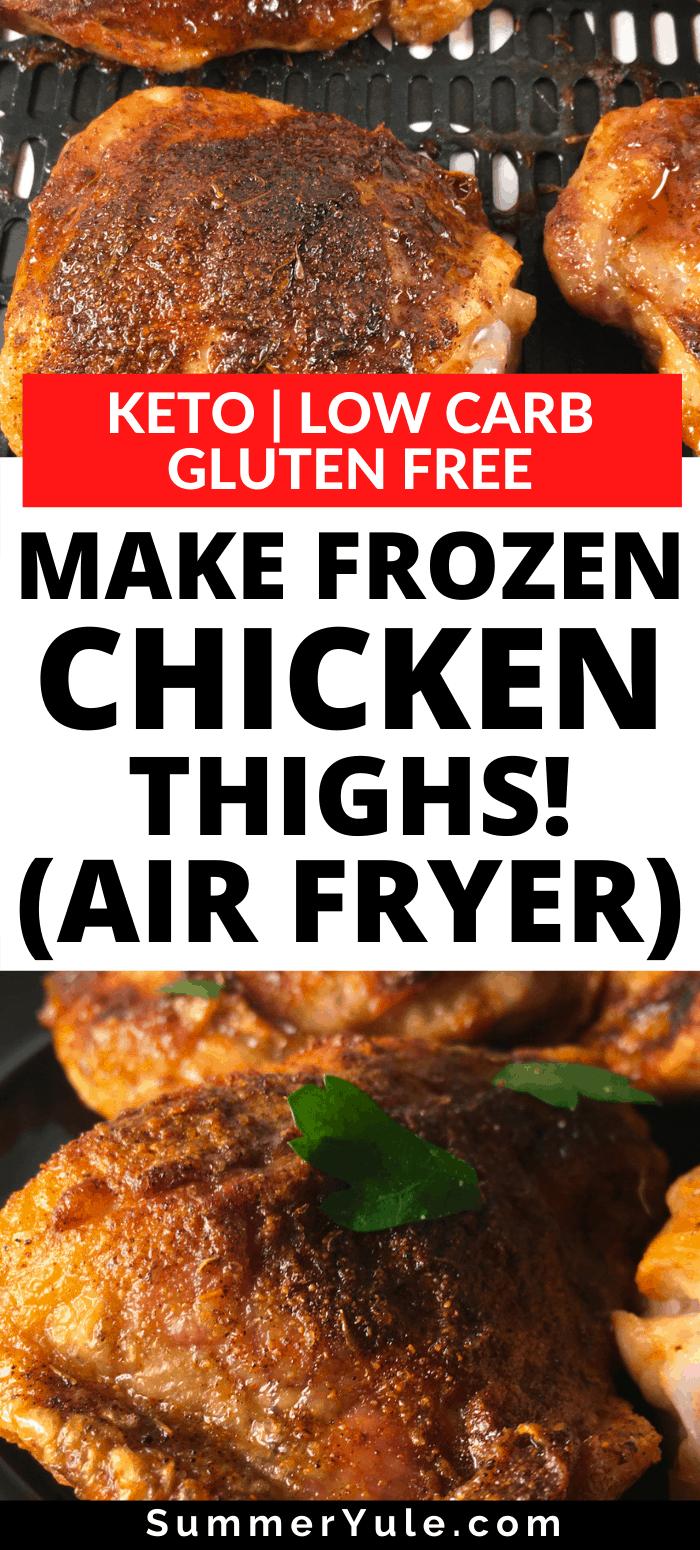 make frozen chicken thighs air fryer