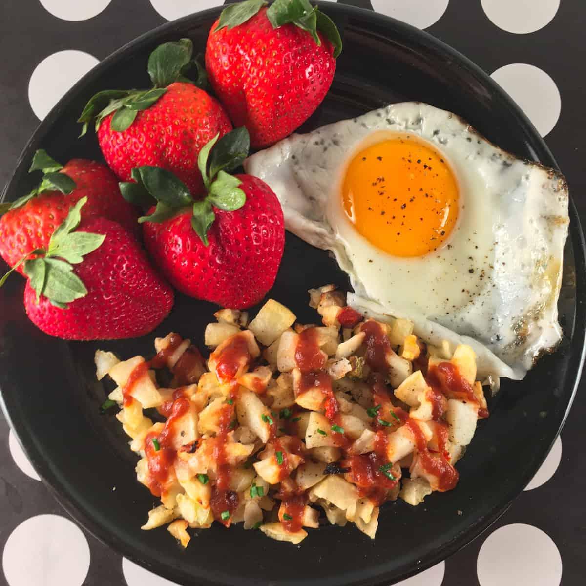 potatoes egg berries