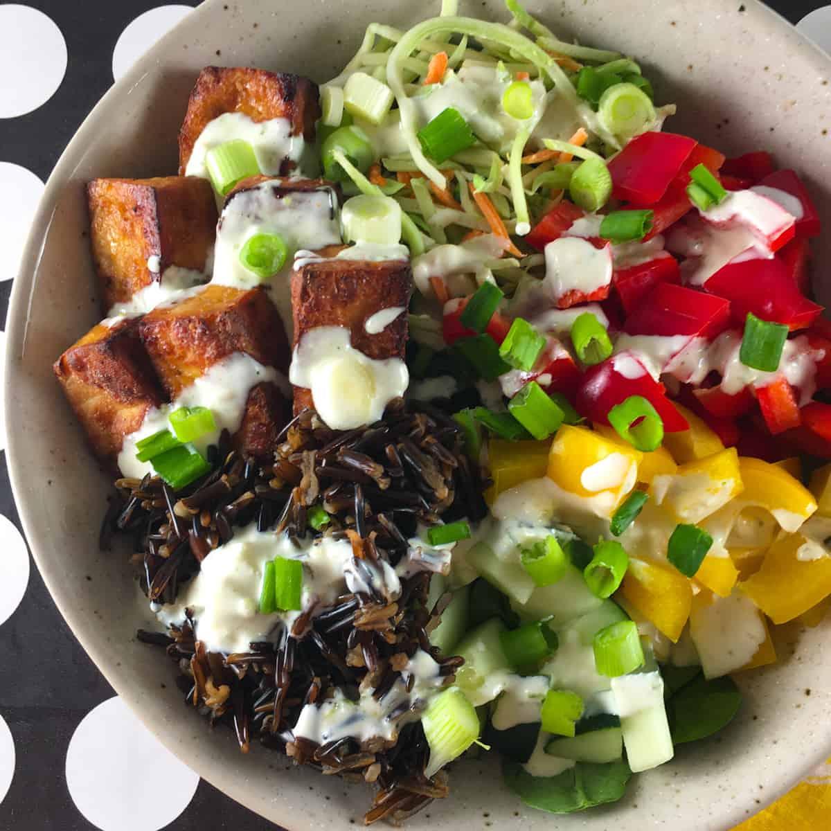 vegetarian tofu bowl