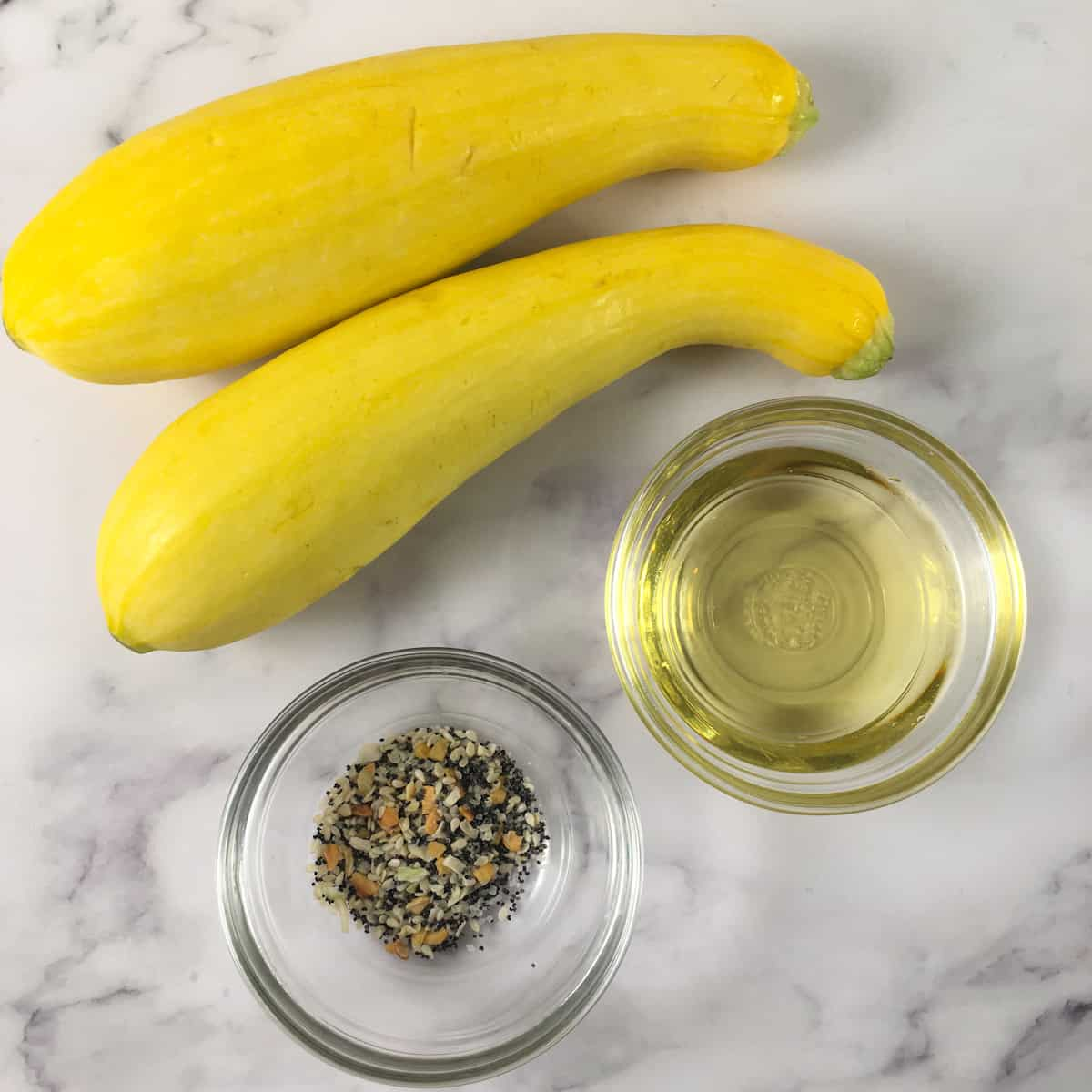 air fryer yellow squash ingredients