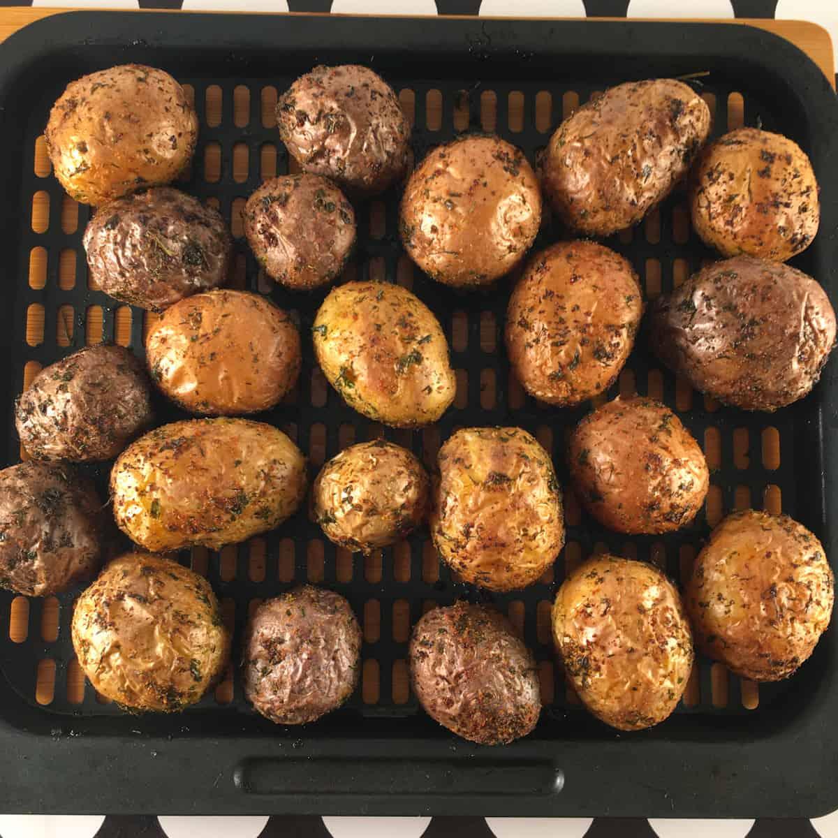 air frying baby potatoes