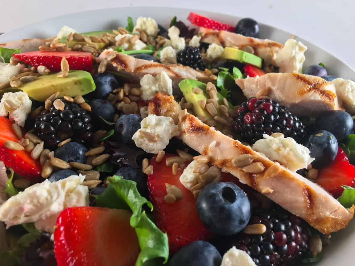 blueberry blackberry strawberry salad