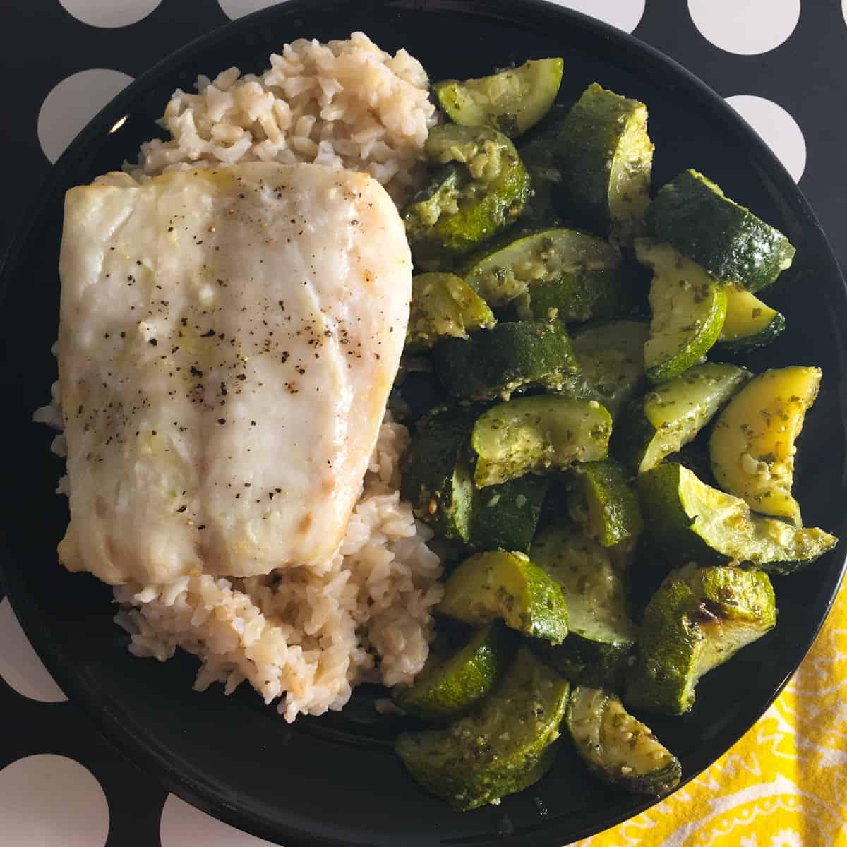 cod fillet meal