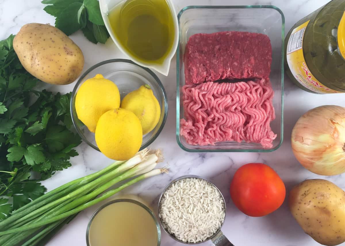 instant pot dolmas ingredients