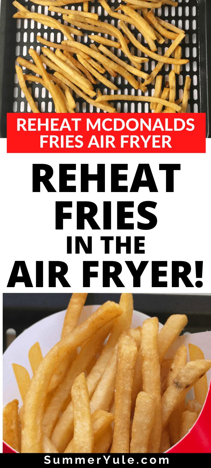 reheat fries air fryer