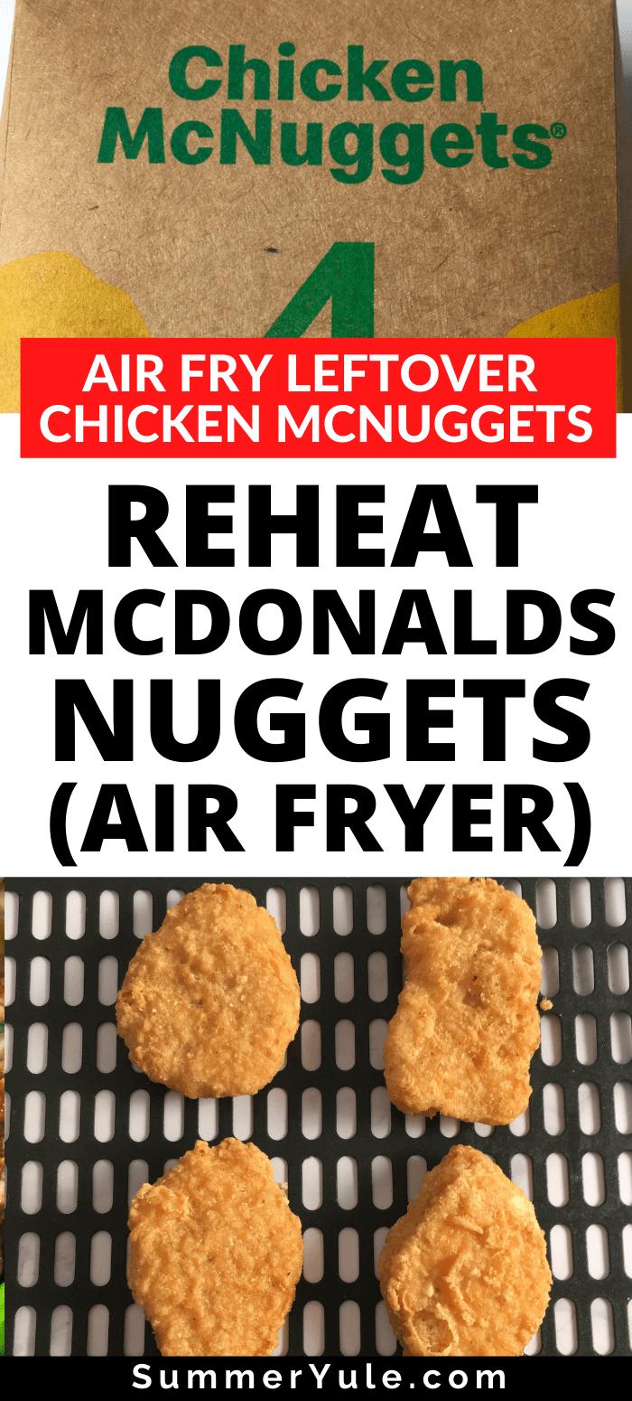 reheat mcdonalds nuggets air fryer