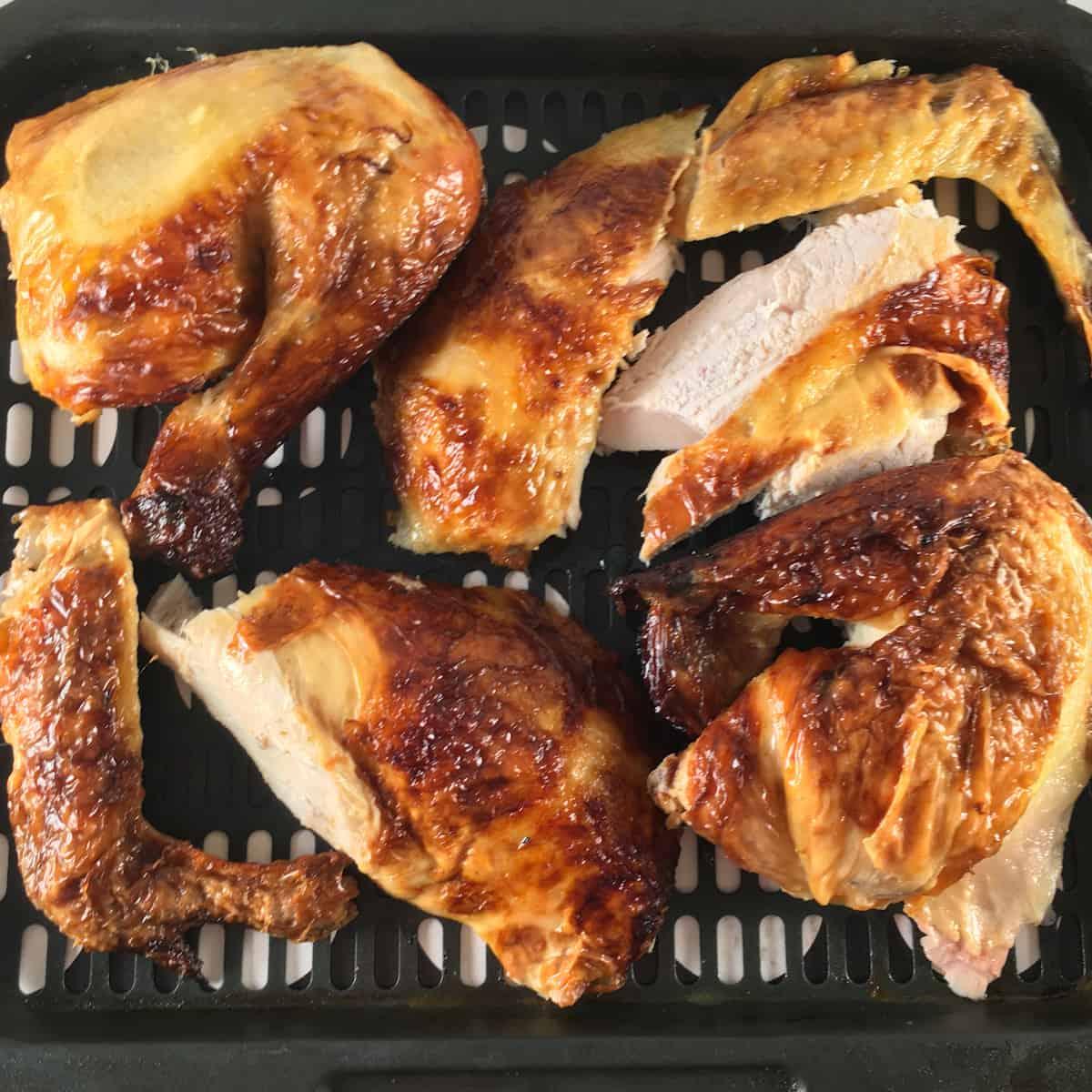 reheat rotisserie chicken in air fryer