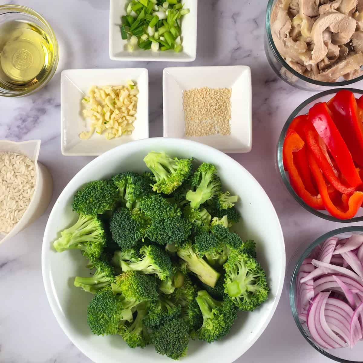 stir fry ingredients