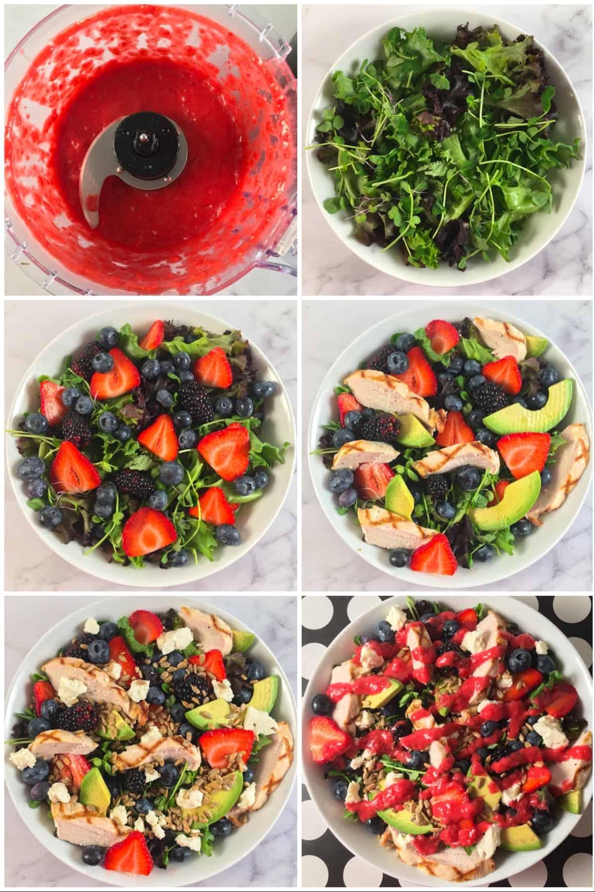 summer berry salad instructions