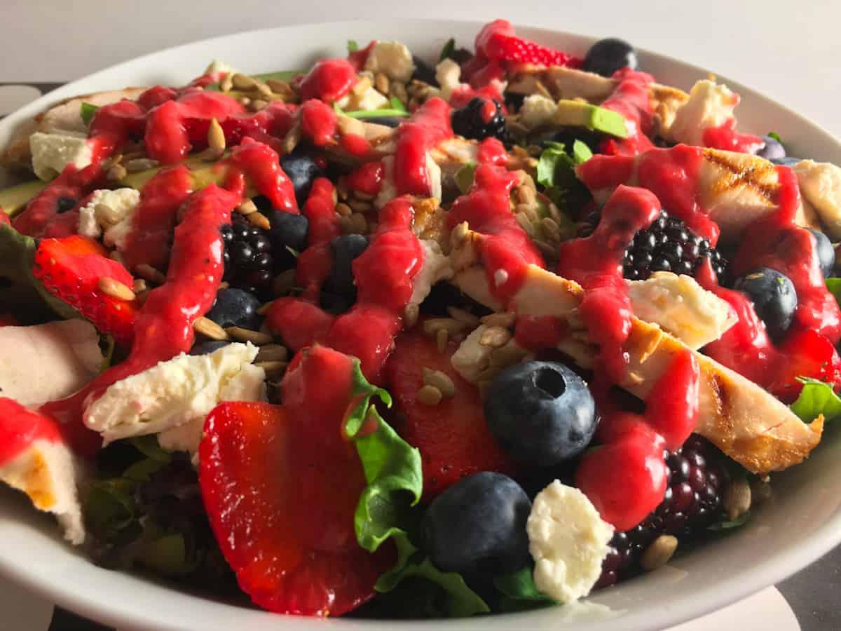 summer berry salad keto