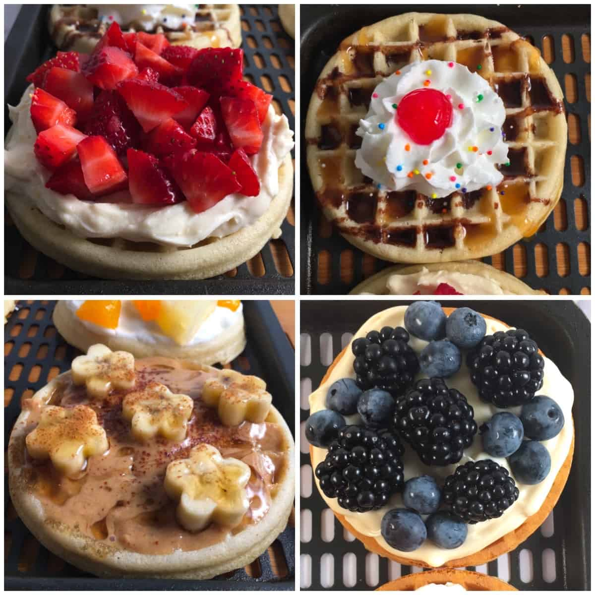 waffles fruit toppings