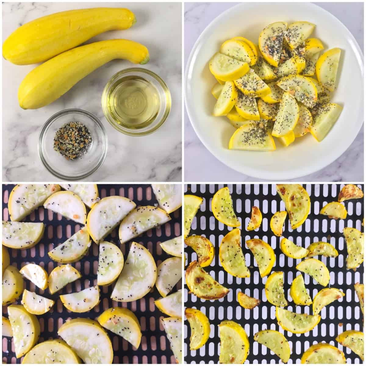 yellow squash air fryer directions