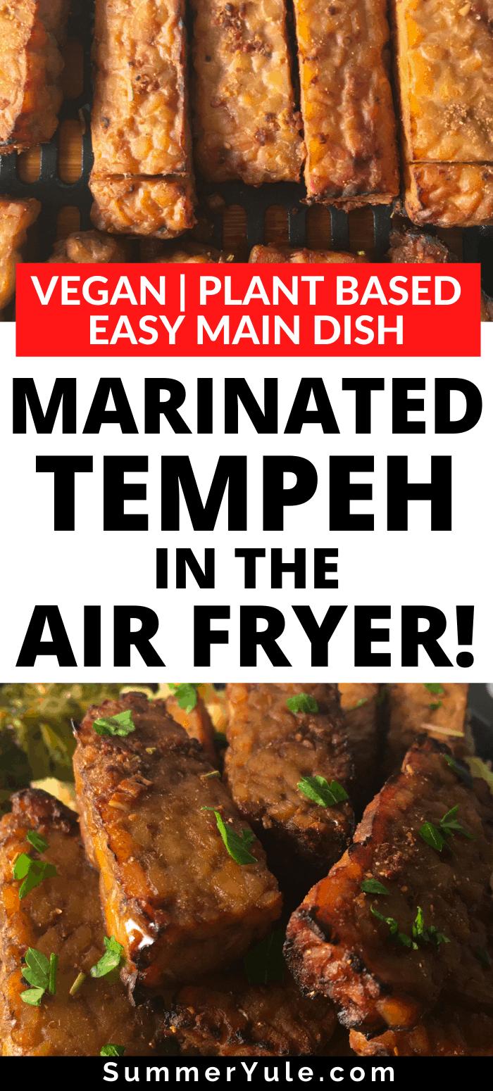 air fry marinated tempeh