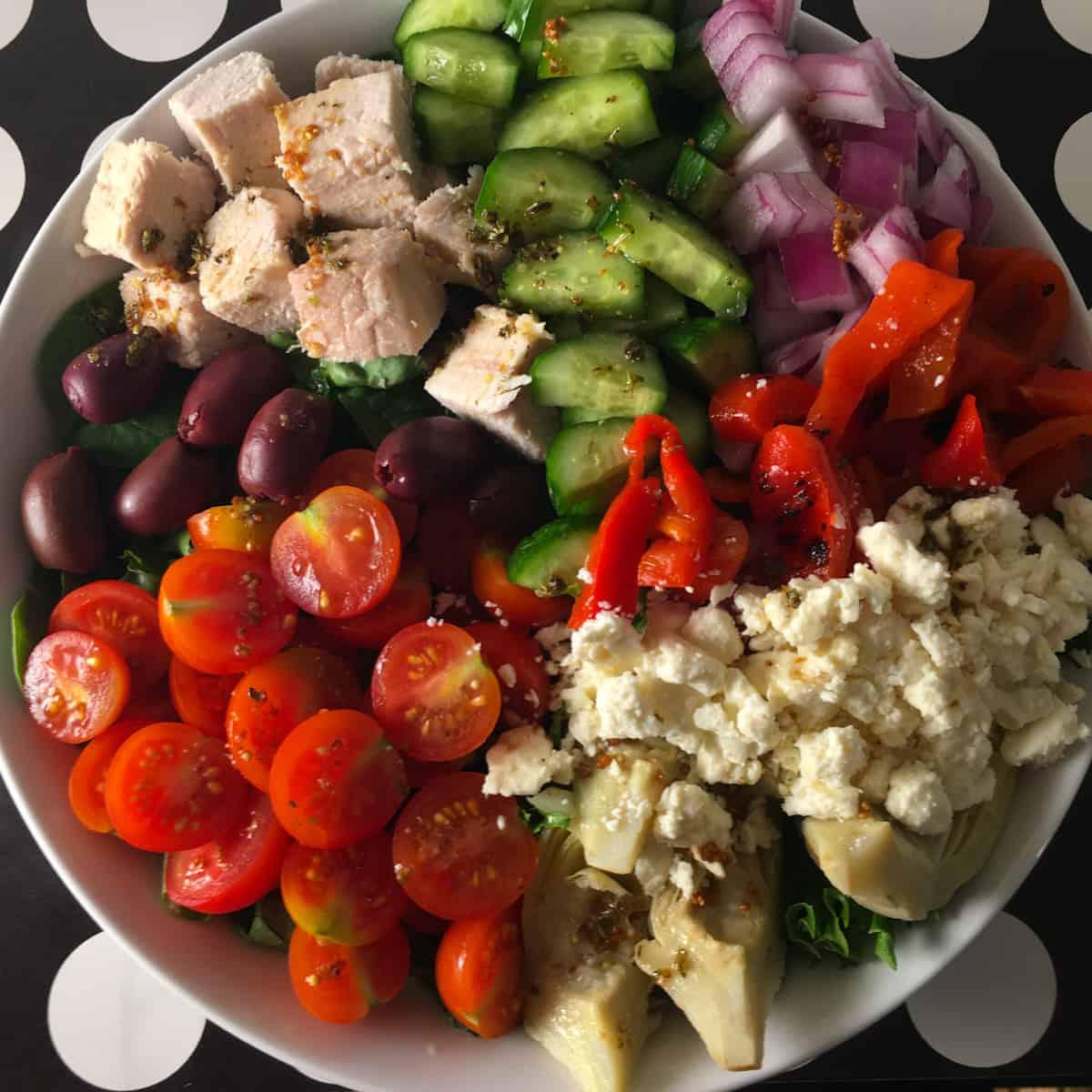 greek salad keto