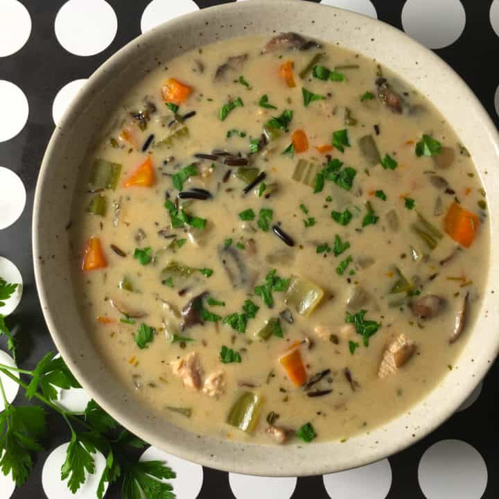 instant pot turkey wild rice soup