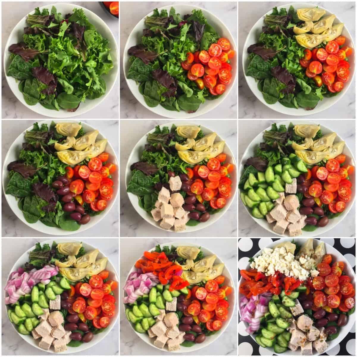 keto greek salad directions