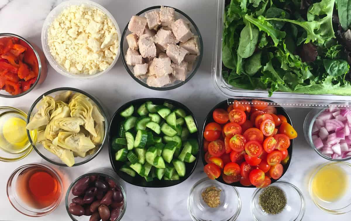 keto greek salad ingredients