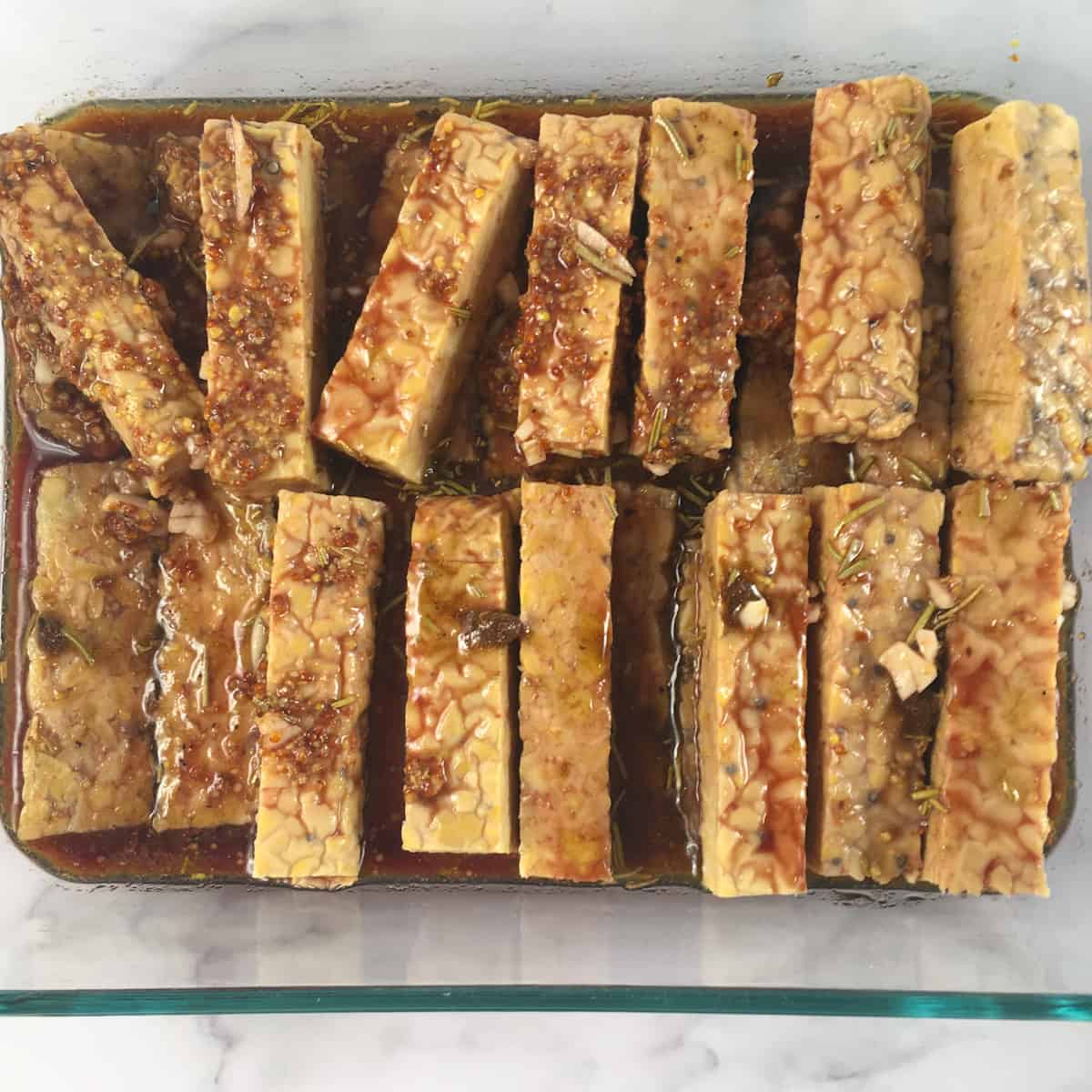 marinated tempeh