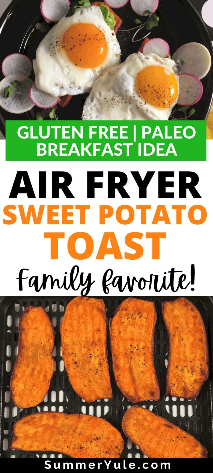 air fryer sweet potato toast