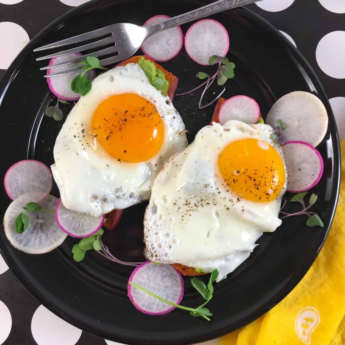 egg sweet potato toast