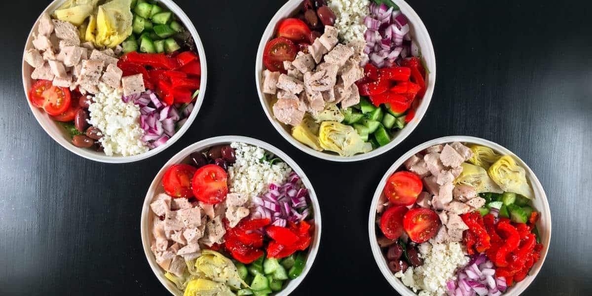 greek salad meal prep