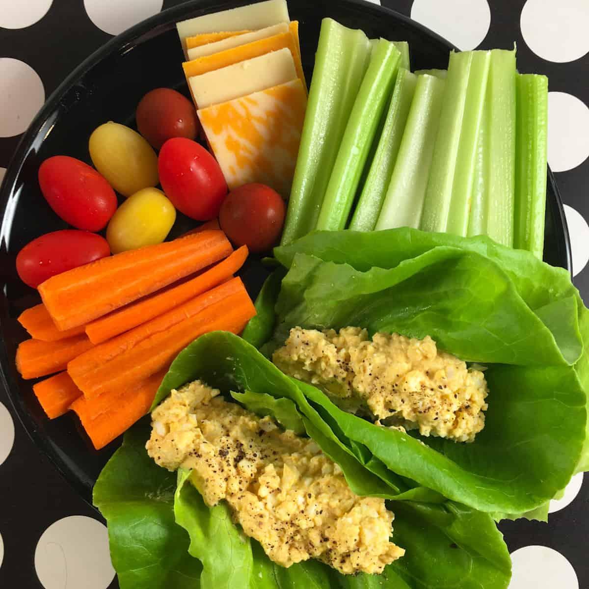 healthy egg salad meal